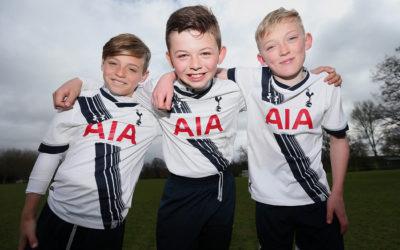Tottenham Hotspur FC happy kids