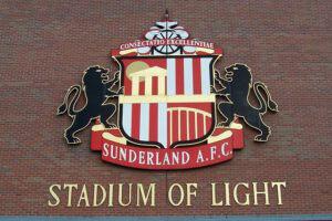 Sunderland AFC Stadium Of Light Crest on the building