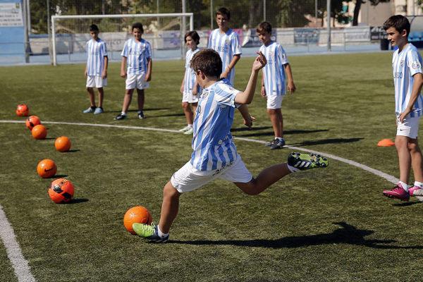 Malaga CF Training kicks