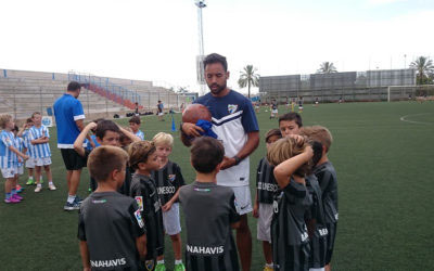Malaga CF Group with Pro PLayer