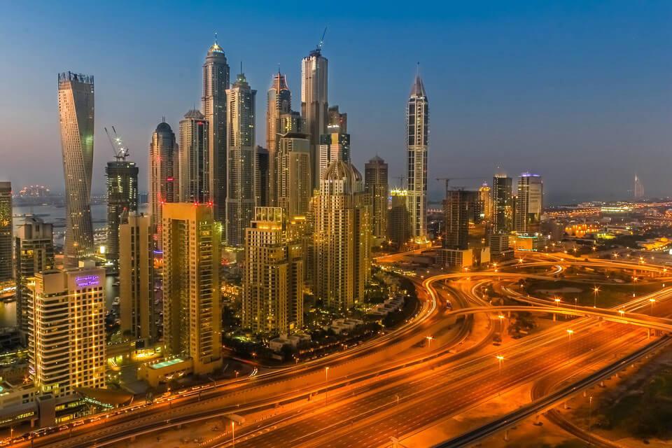 Dubai city shot