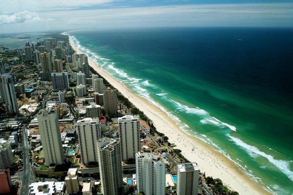 Overview of the gold coast