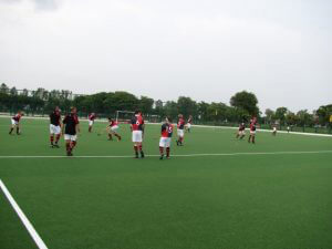 Hockey match in place
