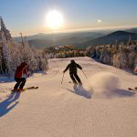 Powder skiing at Killington, Vermont.