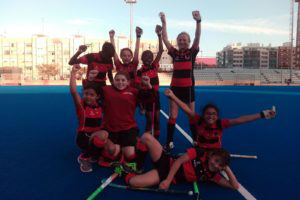 Girls having a great time at Valencia Hockey