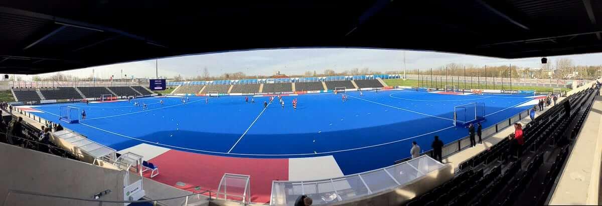 Wide shot hockey pitch