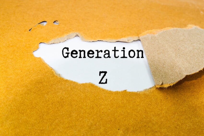 Generation Z through ripped paper