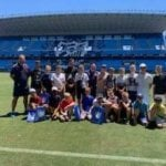 Bridgewater Football Team at Malaga