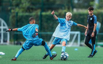 Manchester City Football Tour Training