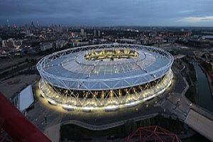 London Stadium by night