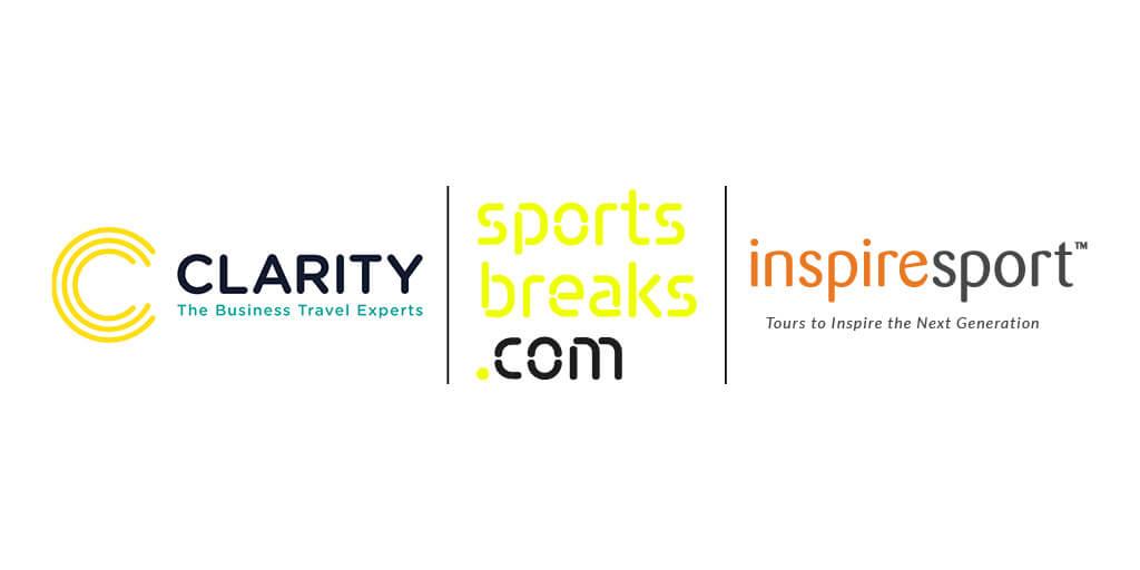 Logos of Clarity Sportsbreaks.com and inspiresport